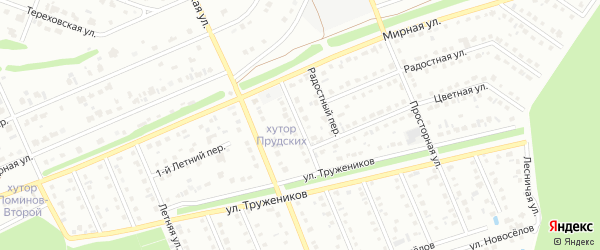 Цветной переулок на карте Старого Оскола с номерами домов