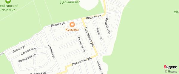 Плодовая улица на карте Старого Оскола с номерами домов