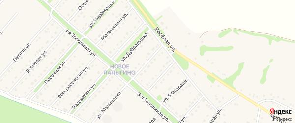 Вишневая улица на карте села Лапыгино с номерами домов