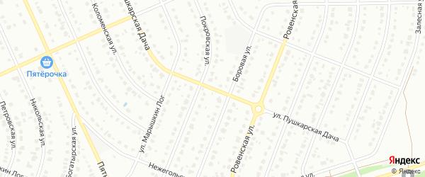 Улица Пушкарская Дача на карте Старого Оскола с номерами домов