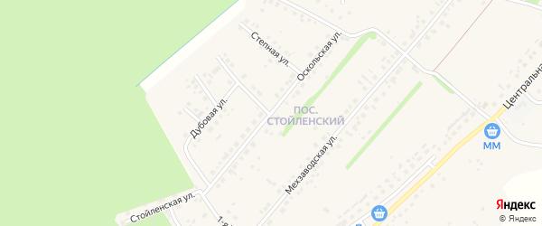 Оскольская улица на карте села Лапыгино с номерами домов