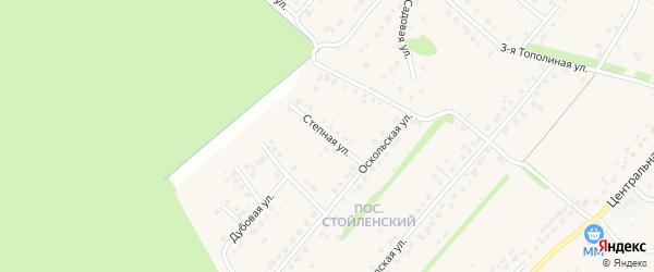 Степная улица на карте села Лапыгино с номерами домов