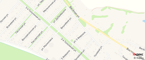 Зеленогорская улица на карте села Лапыгино с номерами домов
