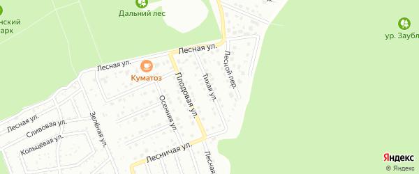 Тихая улица на карте Старого Оскола с номерами домов