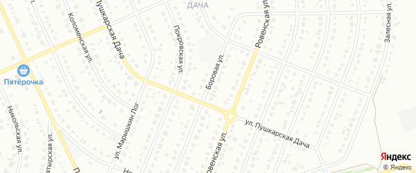 Боровая улица на карте Старого Оскола с номерами домов