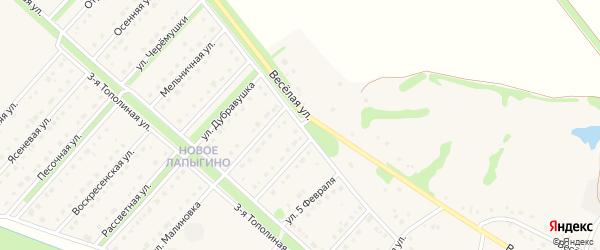 Улица Защитников Отечества на карте села Лапыгино с номерами домов