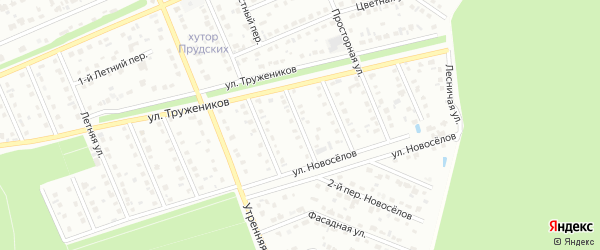 Переулок 2-й Труженников на карте Старого Оскола с номерами домов