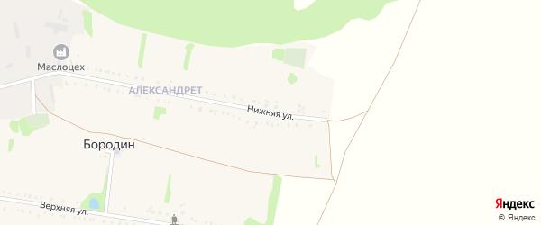 Нижняя улица на карте хутора Бородина с номерами домов