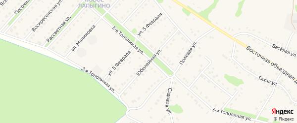 Юбилейная улица на карте села Лапыгино с номерами домов
