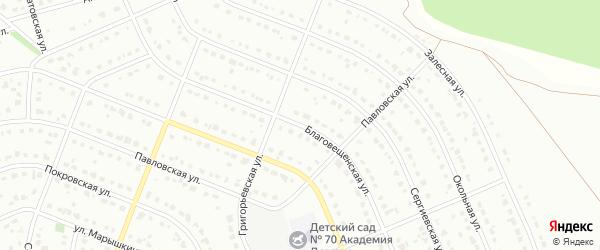 Благовещенская улица на карте Старого Оскола с номерами домов