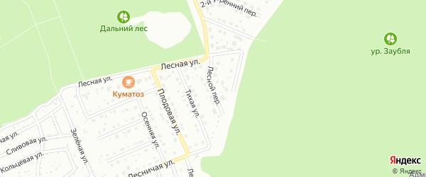 Лесной переулок на карте Старого Оскола с номерами домов
