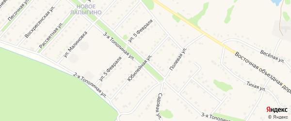 Тополиная 3-я улица на карте села Лапыгино с номерами домов