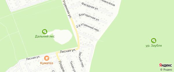 1-й Утренний переулок на карте Старого Оскола с номерами домов