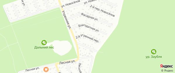 2-й Утренний переулок на карте Старого Оскола с номерами домов