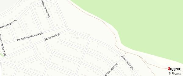 Залесная улица на карте Старого Оскола с номерами домов