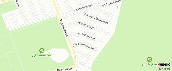 Благодатная улица на карте Старого Оскола с номерами домов