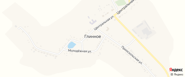Центральная улица на карте Глинного села с номерами домов