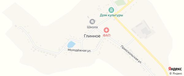 Приоскольская улица на карте Глинного села с номерами домов