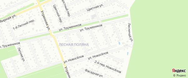 Переулок 3-й Труженников на карте Старого Оскола с номерами домов