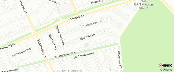 Цветная улица на карте Старого Оскола с номерами домов