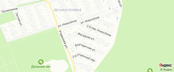 Фасадная улица на карте Старого Оскола с номерами домов