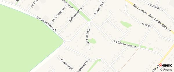 Садовая улица на карте села Лапыгино с номерами домов