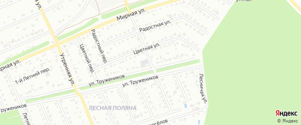 Просторная улица на карте Старого Оскола с номерами домов