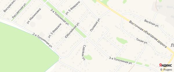 Полевая улица на карте села Лапыгино с номерами домов