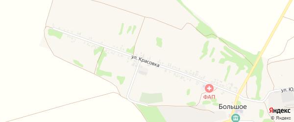 Улица Красовка на карте Большого села с номерами домов