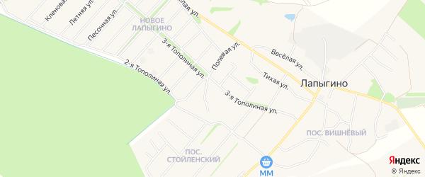Новое СТ на карте Старооскольского района с номерами домов