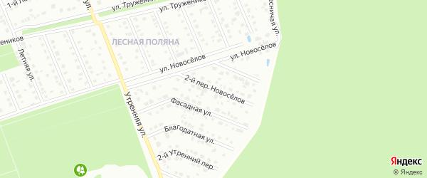 Переулок 2-й Новоселов на карте Старого Оскола с номерами домов