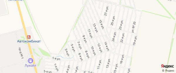 СТ Ивушка на карте Старооскольского района с номерами домов