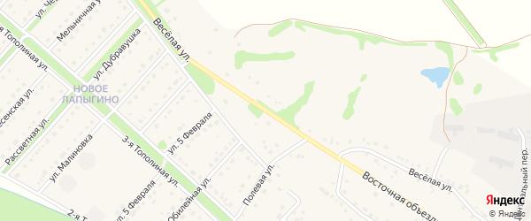 Веселая улица на карте села Лапыгино с номерами домов
