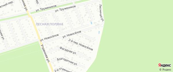 Переулок 1-й Новоселов на карте Старого Оскола с номерами домов