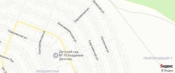 Сергиевская улица на карте Старого Оскола с номерами домов
