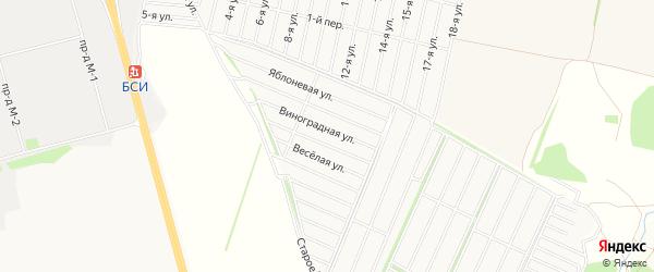 СТ Трикотажник на карте Старооскольского района с номерами домов