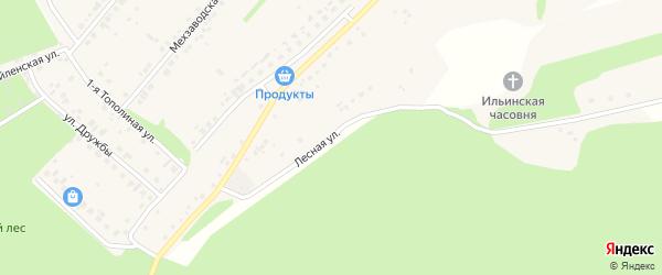 Лесная улица на карте села Лапыгино с номерами домов