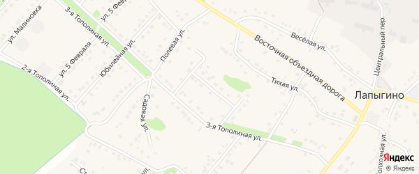 2-й Тополиный переулок на карте села Лапыгино с номерами домов