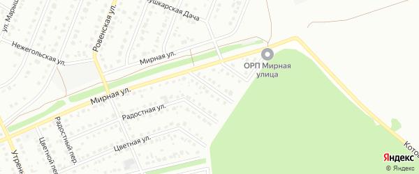 3-й Мирный переулок на карте Старого Оскола с номерами домов