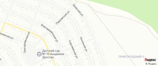 Окольная улица на карте Старого Оскола с номерами домов