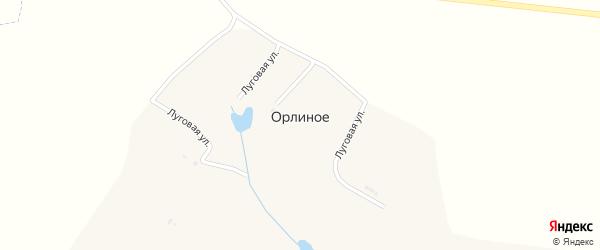 Луговая улица на карте хутора Орлиного с номерами домов