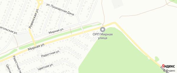 4-й Мирный переулок на карте Старого Оскола с номерами домов