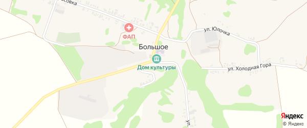 Коммунарская улица на карте Большого села с номерами домов