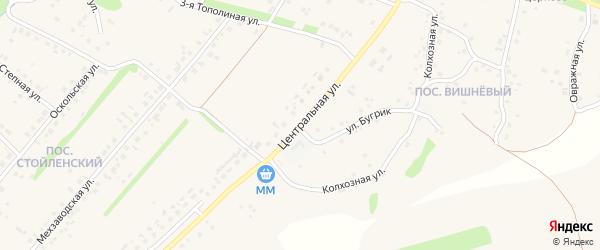 Центральная улица на карте села Лапыгино с номерами домов