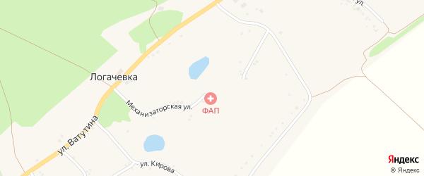 Улица Кирова на карте села Логачевки с номерами домов