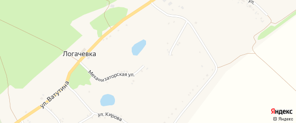 Механизаторская улица на карте села Логачевки с номерами домов