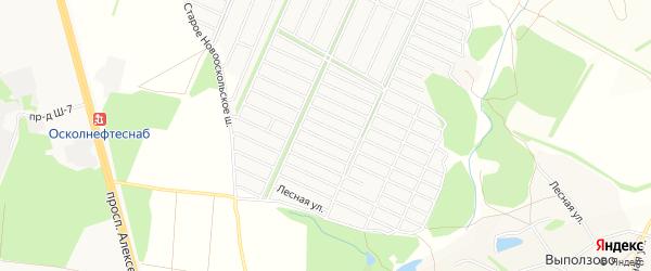 СТ Залесье на карте Старооскольского района с номерами домов