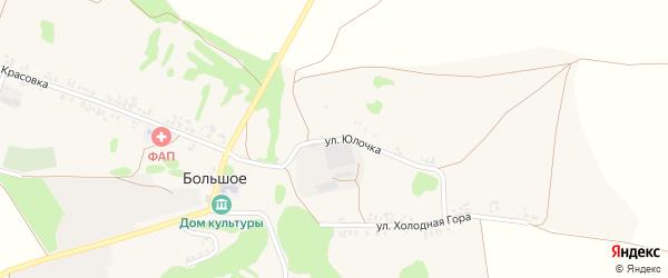 Улица Юлочка на карте Большого села с номерами домов