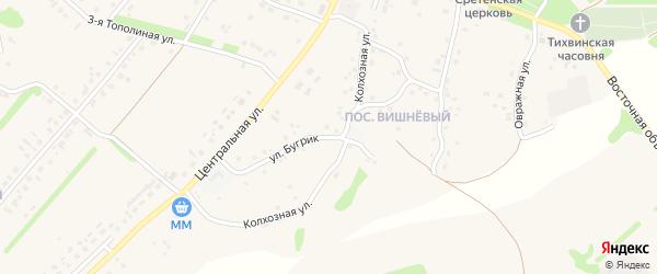 Улица Бугрик на карте села Лапыгино с номерами домов