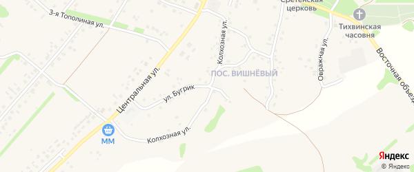 Колхозная улица на карте села Лапыгино с номерами домов